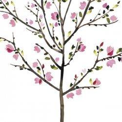 Adesivo árvore com flores
