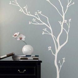 Adesivo de parede árvore fina