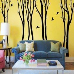 Adesivo de parede árvores harmonia na floresta