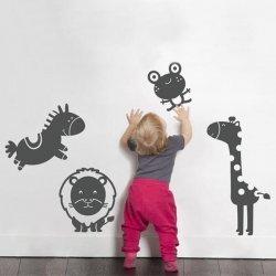 Adesivo de parede infantil bichinhos cartoon