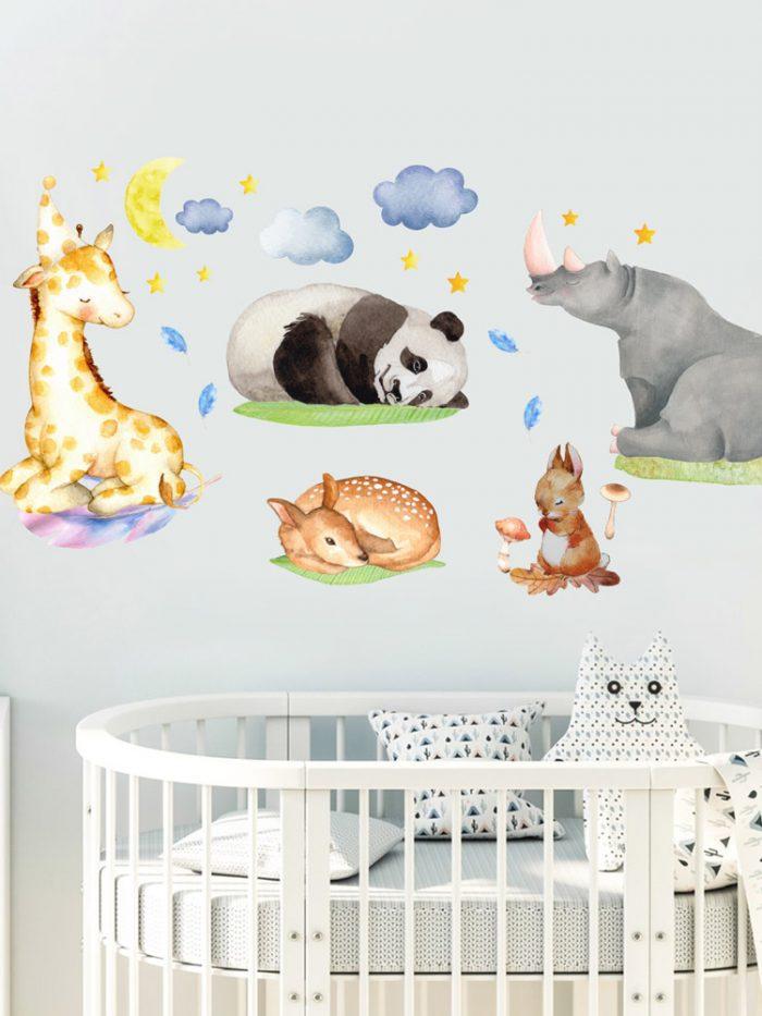 adesivos de parede animais da floresta