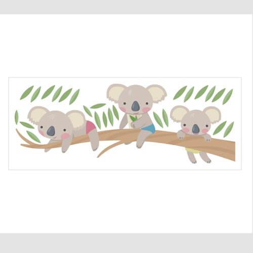 Adesivo de parede infantil coala