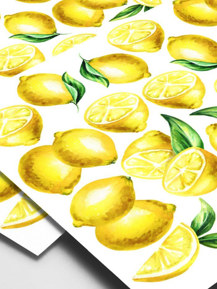 adesivo de parede limão siciliano