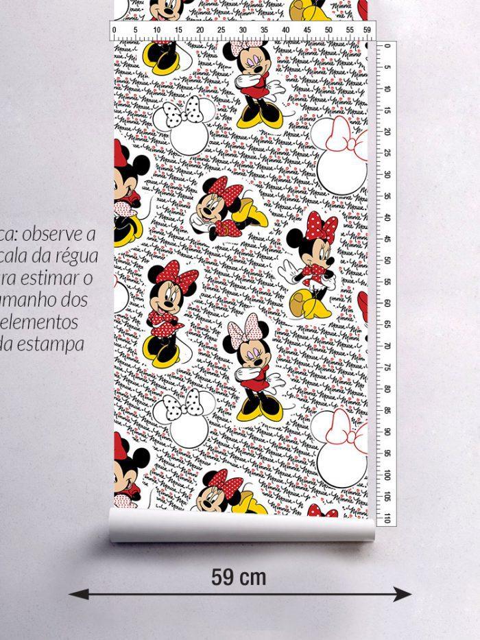 largura do papel de parede Minnie