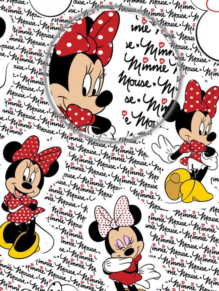 detalhe de zoom do papel de parede Minnie