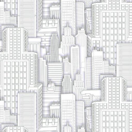 Adesivo papel de parede arranha céus