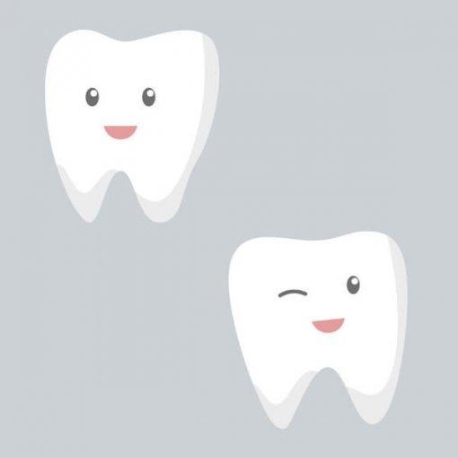 Kit estampa adesiva dentinhos