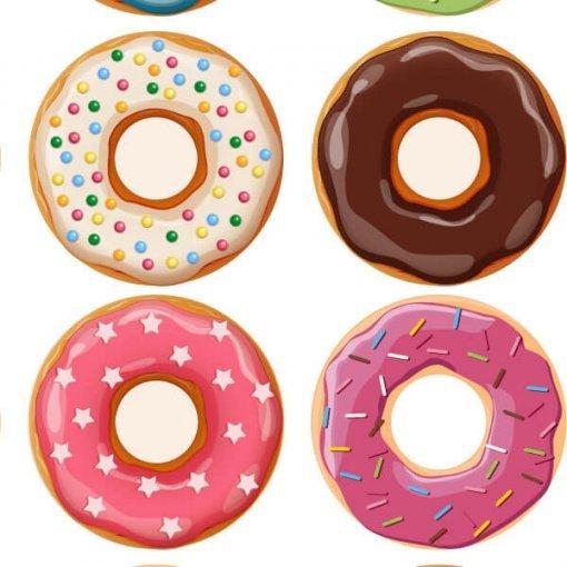 Kit estampa adesiva donuts sortidos