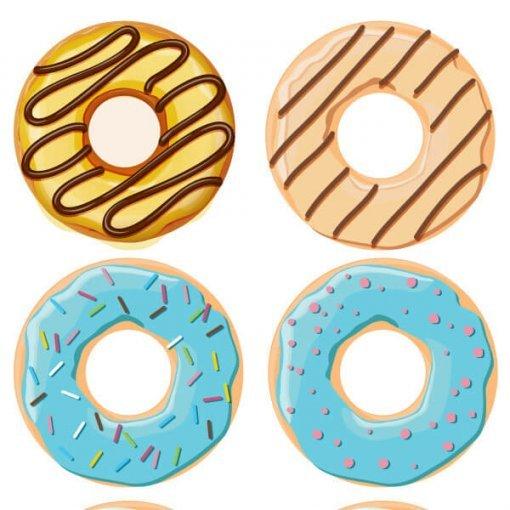 Estampa adesiva Donuts