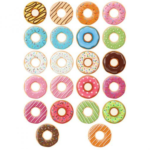 Kit adesivo donuts sortidos