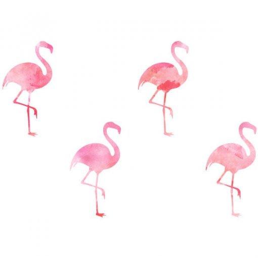 Kit adesivos estampados flamingos