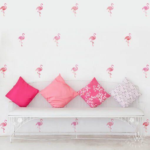 Kit estampa adesiva flamingos