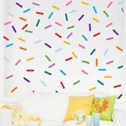 Kit estampa adesiva granulado colorido