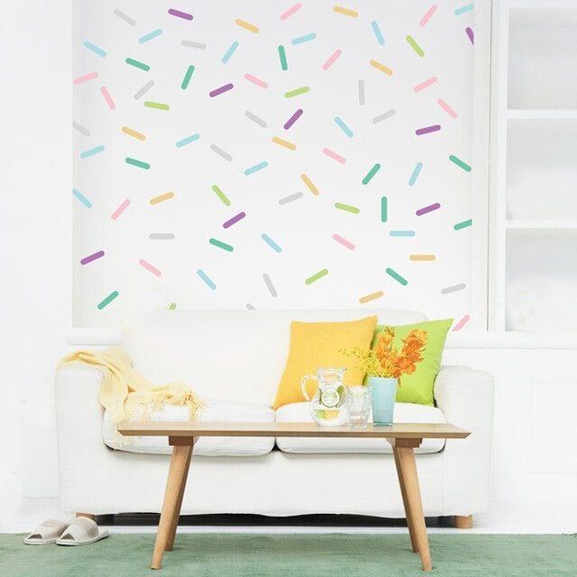 Kit adesivo de parede granulado