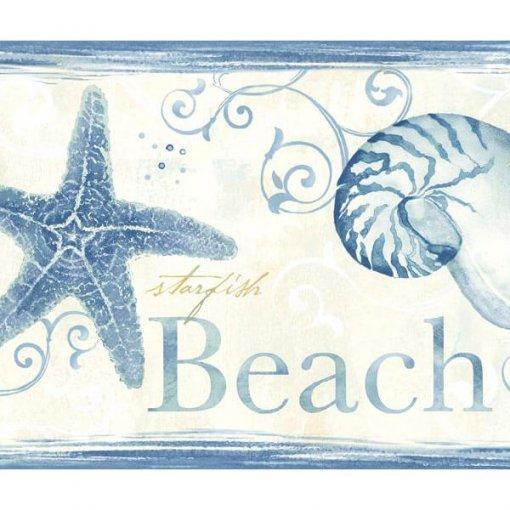 Faixa decorativa de parede estrela do mar