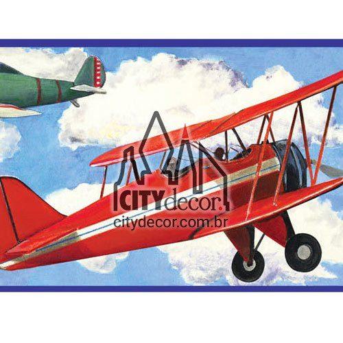 Faixa decorativa aviões