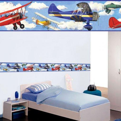 Faixa decorativa infantil Aviões clássicos
