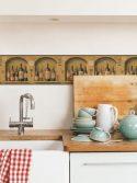 Faixa decorativa de parede para cozinha vinhos