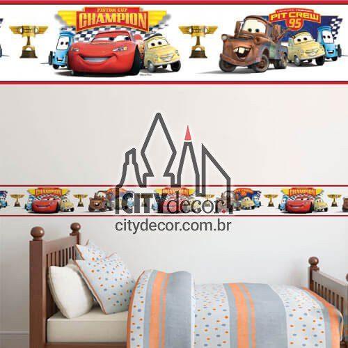 Faixa de parede para quarto Carros Disney