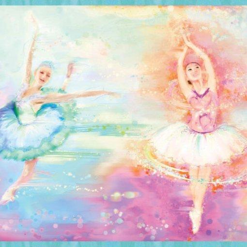 Faixa decorativa de parede bailarinas