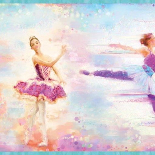 Faixa decorativa de parede ballet bailarina