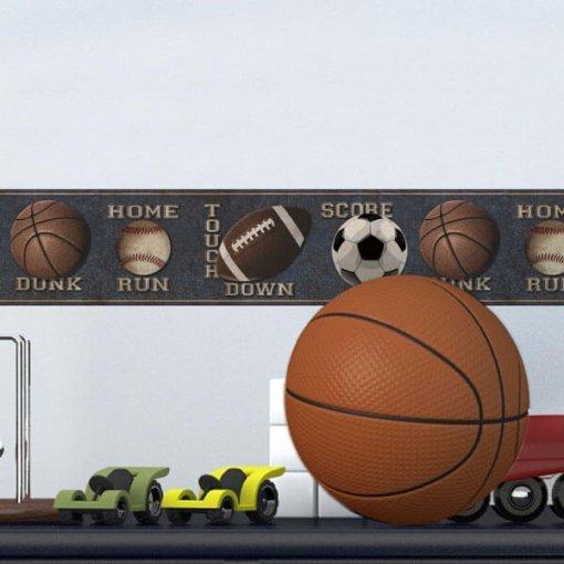 Faixa decorativa de parede Bolas Esportivas