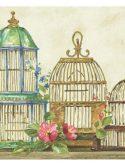 Faixa decorativa de parede casinhas de passarinho