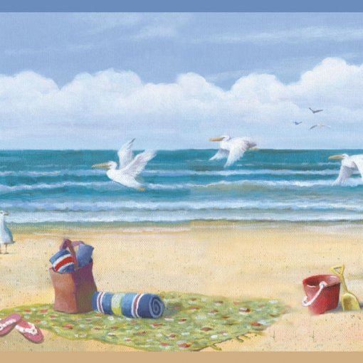 Faixa de parede border areia na praia