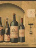 Faixa de parede para cozinha garrafas de vinho