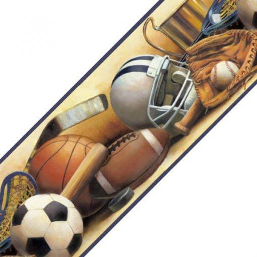 Faixa decorativa de parede esportes com bola