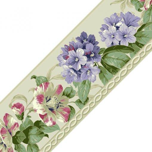 Faixa decorativa floral azaleia - lilás