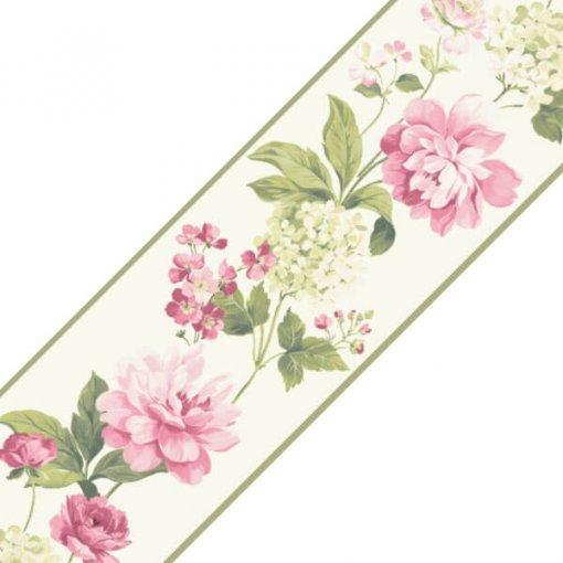 Faixa decorativa floral peônias