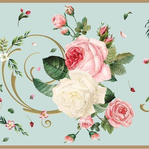 Faixa decorativa floral buquê de rosas