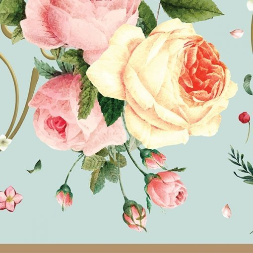 Faixa decorativa floral rosas