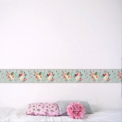 Faixa decorativa floral rosas sortidas