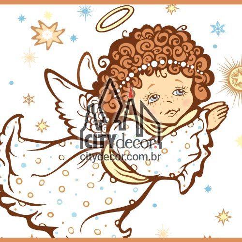Faixa para quarto de bebê anjos