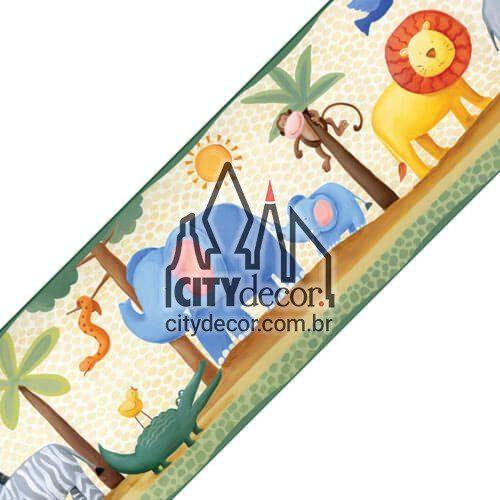 Faixa de parede para quarto de bebê Zoo Safari
