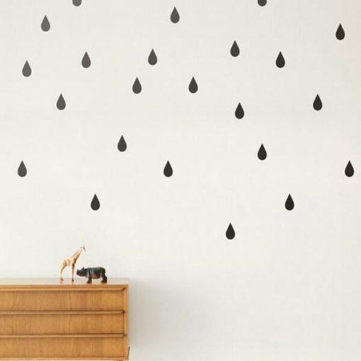 Kit adesivo de parede gotas de chuva
