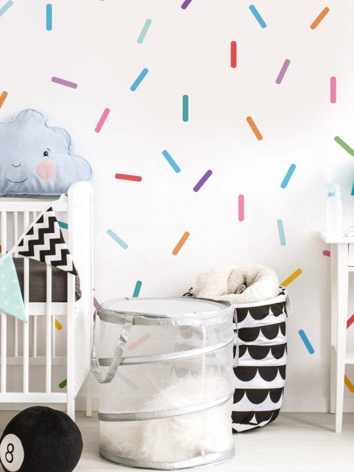 Kit adesivo de parede confeito granulado colorido
