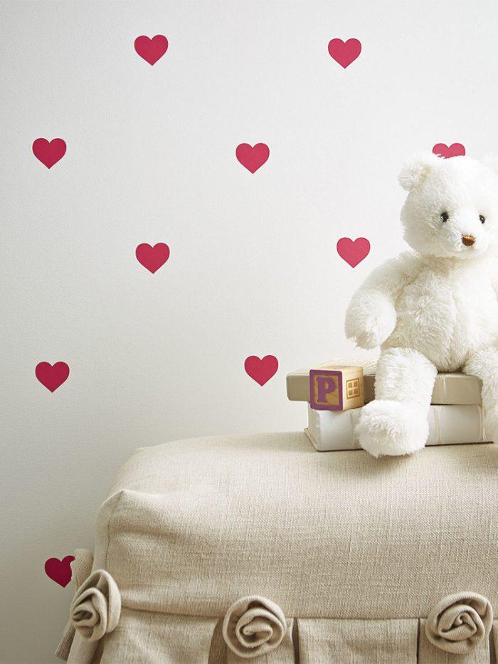 Kit mini adesivos estampa corações