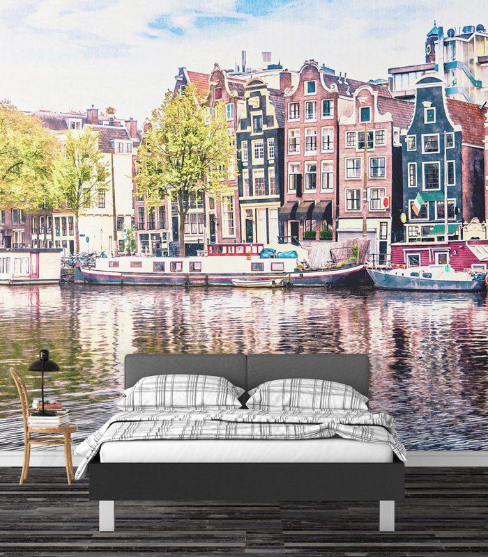 Painel fotográfico para quarto Amsterdam