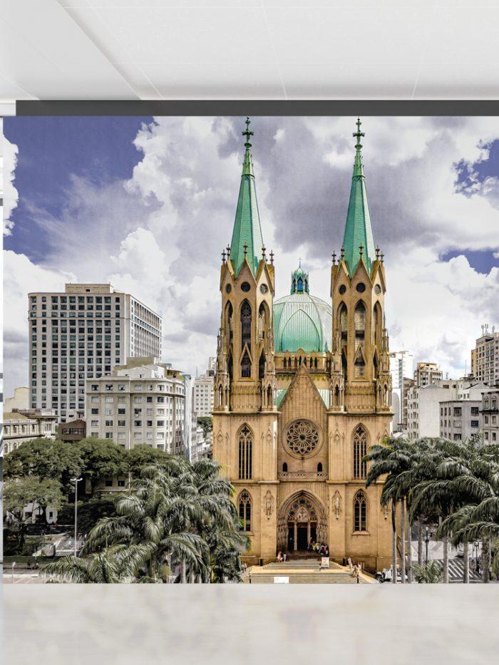 Painel fotográfico papel de parede Catedral da Sé São Paulo