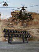 Painel fotográfico papel de parede helicóptero exército de Israel