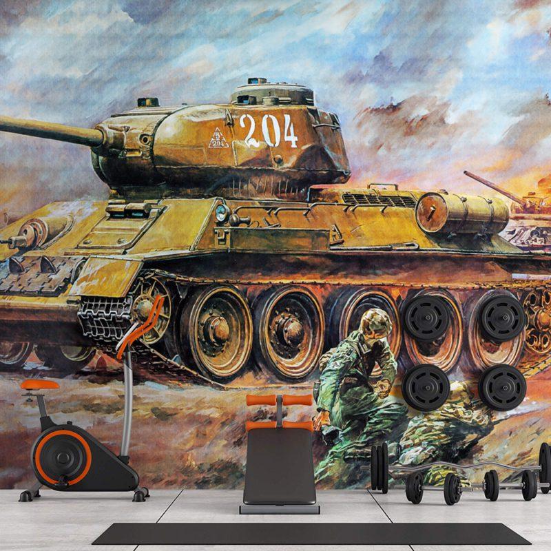 Painel fotográfico papel de parede militar tanque de guerra russo