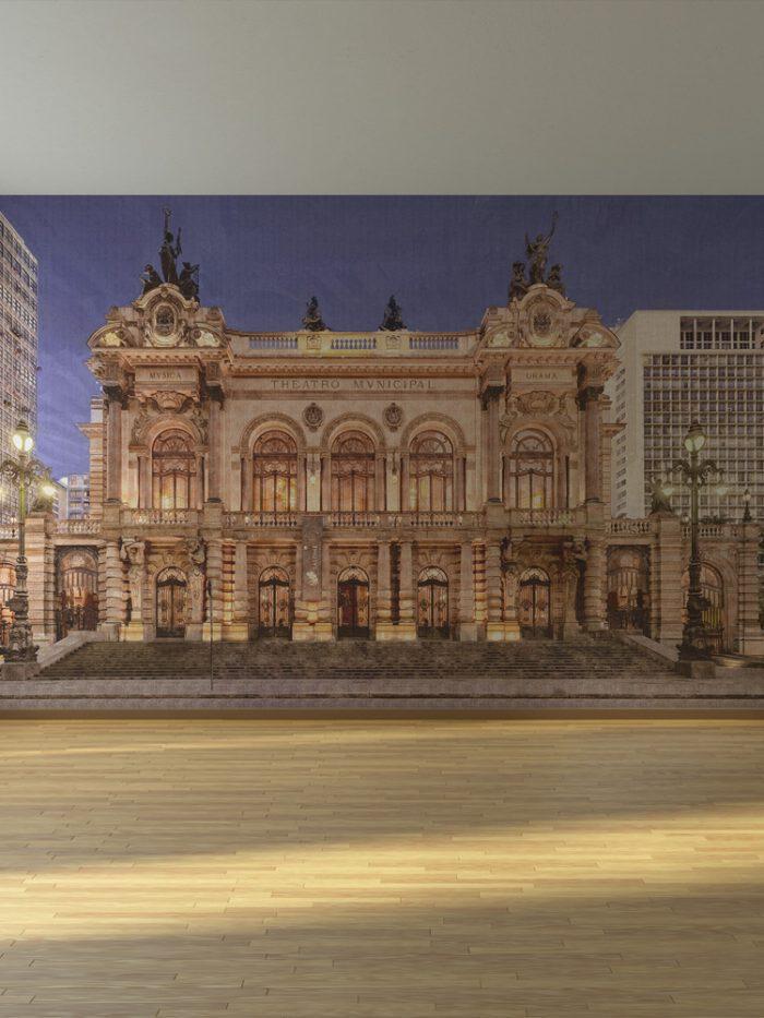 Painel fotográfico Teatro Municipal de SP
