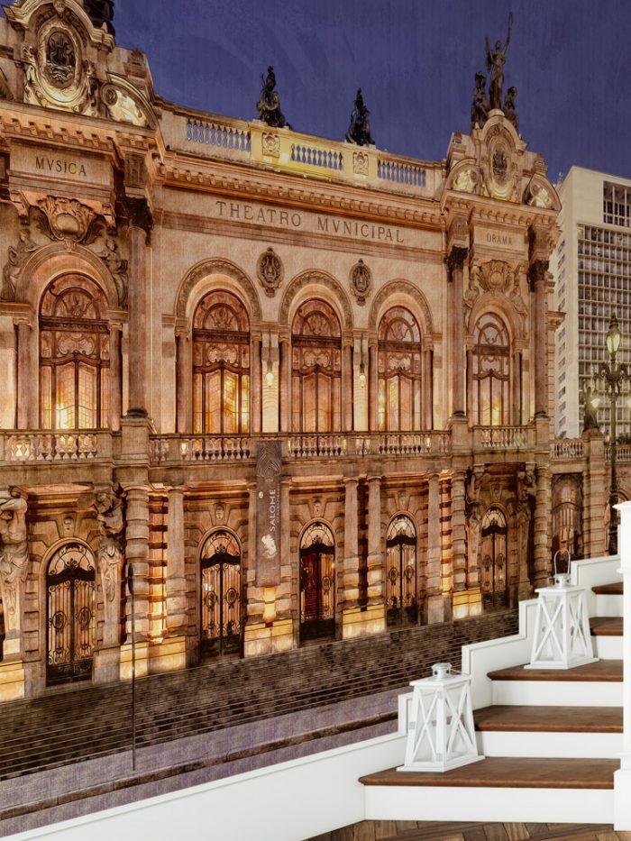 Painel fotográfico adesivo papel de parede Teatro Municipal de SP