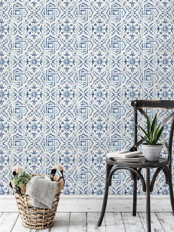 papel de parede azulejo Madrid