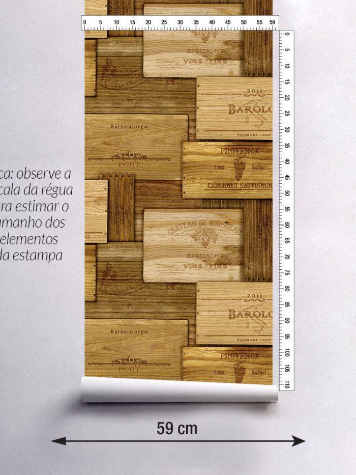 Papel de parede caixotes de vinho largura