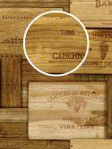 Papel de parede caixotes de vinho detalhe