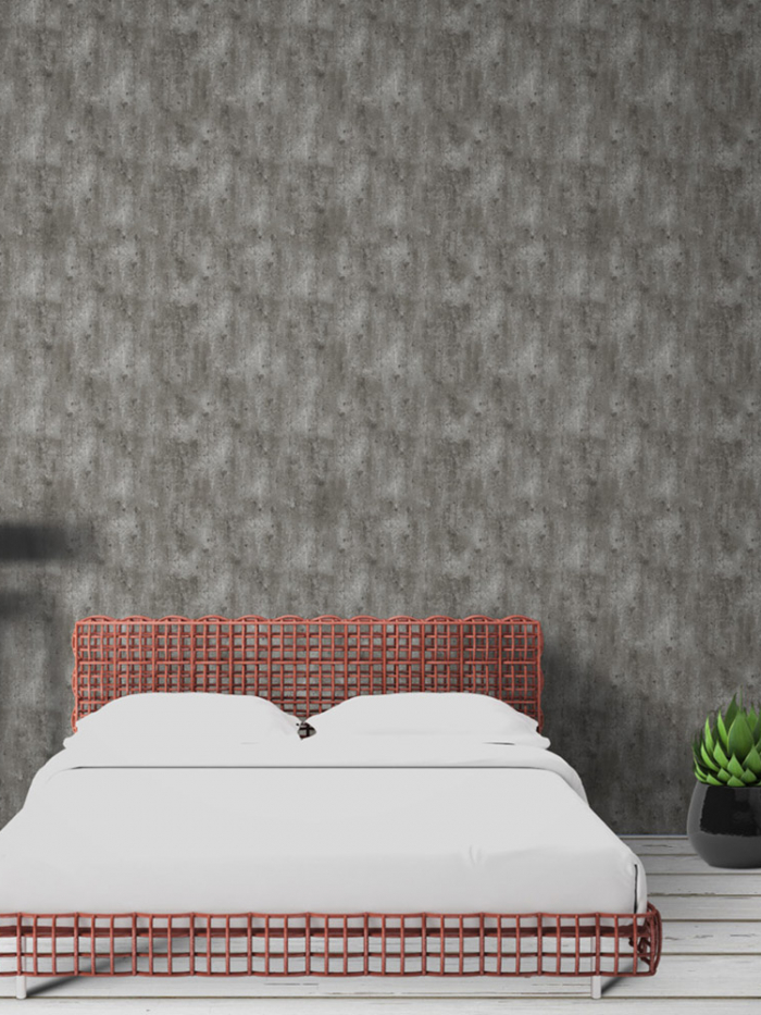 Papel de parede efeito concreto liso para quarto ou sala
